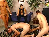 Amazing Threesome With a Kinky Voyeur