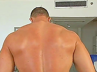 Big Muscle Guy Has a Big Cock