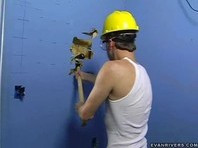Sexy Worker Cat Fix The Wall... But It Looks Hot Anyway