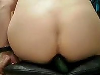 Sitting on a Cucumber and Cumming all Over