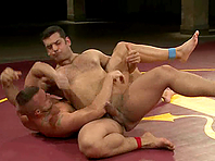 A submissive gay gets his mouth and ass fucked deep on tatami