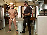 Phillip Aubrey gets brutally fucked by Spencer Reed in BDSM scene