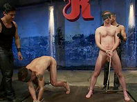 Brenn Wyson enjoys torturing two gays in a basement