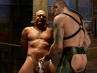 Chad Brock enjoys being tortured by Tober Brandt in gay BDSM scene