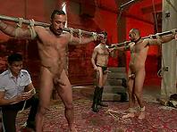 Alessio Romero and one more guy get tortured by Van Darkholme