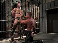 Jason Miller enjoys being tortured and fucked in BDSM scene