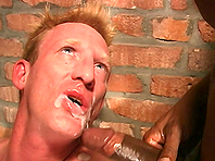 Blonde fairy Jailbait gets his butt ripped apart by two black poofters