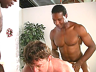 Chubby gay Julian gets his ivory ass slammed by a black dude