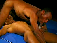 A black gay enjoys banging in missionary position after 69 oral sex