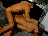 Cute blonde fairy and his BF fuck each other's assholes on the floor