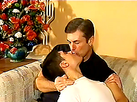 Gay daddy and a boy enjoy fucking each other's butts