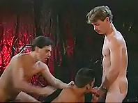 Horny Latinos suck each other's weiners and get fucked hard