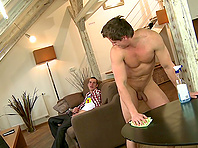 Alex sucks Caleb Moreton's wang and takes it in his gay butt