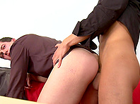 Gay Benito Moss sucks and rubs a shaft and gets fucked and facialed