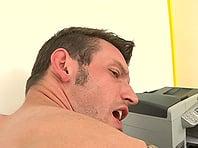 Tattooed homo Marek gives head and has bareback doggy style sex