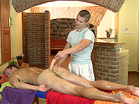 Kinky poofter gets his ass toyed and fucked deep after massage