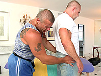Trace Michaels gets his butt torn up by a muscular tattooed homo