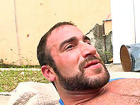 Spencer Reed pounds Sean Xavier Lawrence's gay asshole outdoors