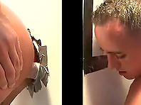Gloryhole blowjob and cock-riding with gays Ty Tucker and Luke Milan