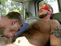 Kinky twink gets his ass destroyed by a tattooed gay daddy