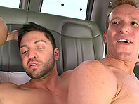 Bearded queer drills a dude's butt doggy style in reality scene