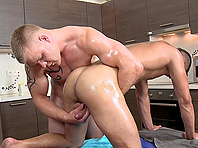 Ardent massage and gay love making with horny Paul Fresh