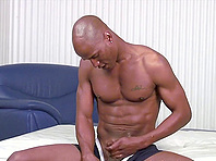 Gay handjob action with Mike Daniels and black stud called The Machine