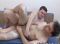 Horny gay bitch gets his butt pounded deep from behind