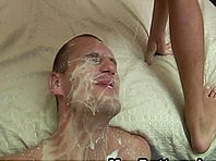 Wild gay guy with a slim body enjoying a bareback anal fuck